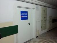 Przychodnia Studencka na AWFiS w Gdańsku - wjeście z korytarza uczelnianego